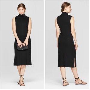 A New Day Ribbed Turtleneck Sleeveless Midi Dress